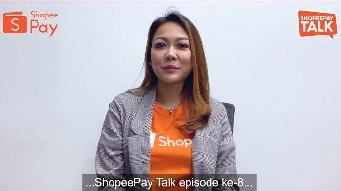 Sambutan dari Eka Nilam Dari, Head of Strategic Merchant Acquisition ShopeePay membuka acara ShopeePay Talk Eps.8.