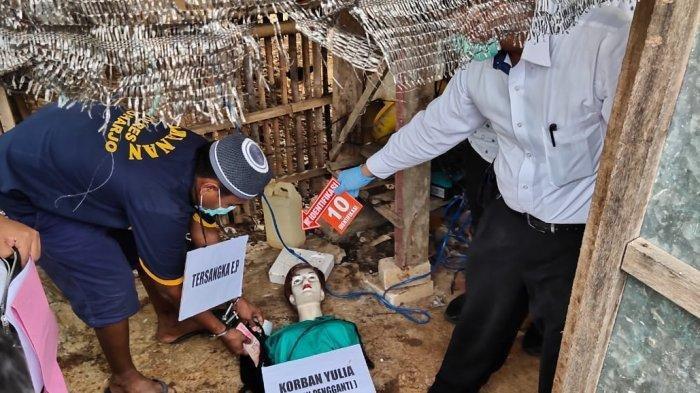 Sadisnya Eko Bunuh Yulia Terungkap Dalam Pra Rekonstruksi di Kandang Ayam Sukoharjo