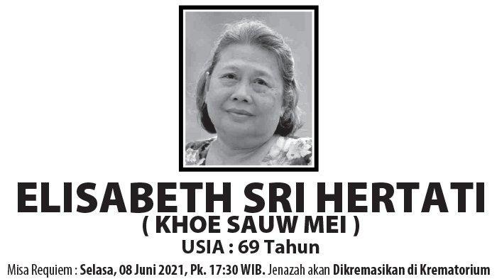 Berita Duka, Elisabeth Sri Hertati (Khoe Sauw Mei) Meninggal Dunia di Semarang