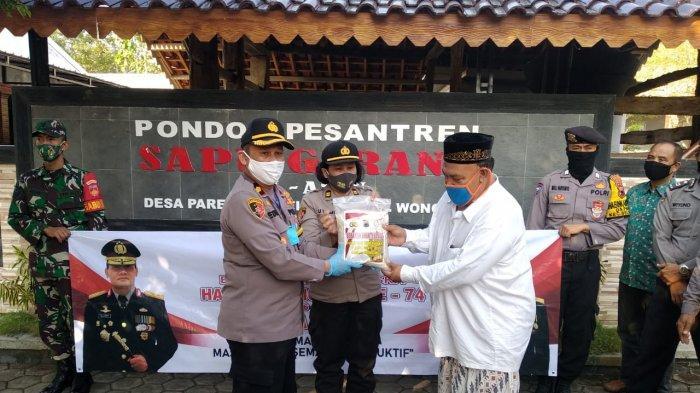 HUT Ke-74 Bayangkara, Polres Wonogiri Sambangi Ponpes Sapu Gerang Al Amin