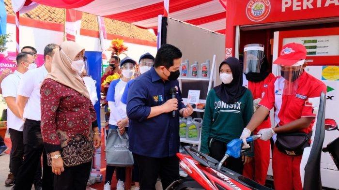 Erick Thohir Kunjungi Warga Kendal Bisnis Pertashop Bisa Untung Rp 25 Juta Tiap Bulan
