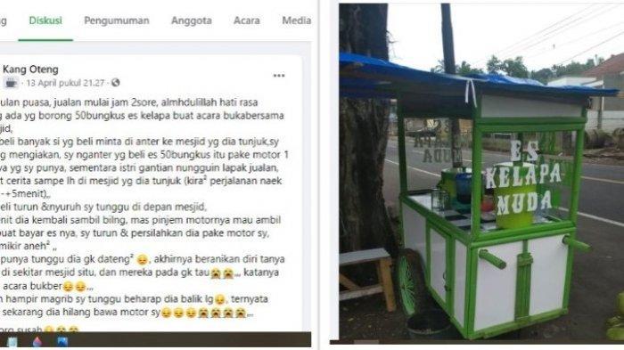 Kisah Sedih Penjual Es Degan Ditipu Pembeli, Pesanan 50 Bungkus Tidak Dibayar Motor Dibawa Kabur