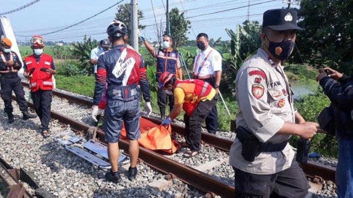 Diduga Depresi, Warga Saradan, Karangmalang Sragen Tabrakan Diri ke Kereta yang Melintas