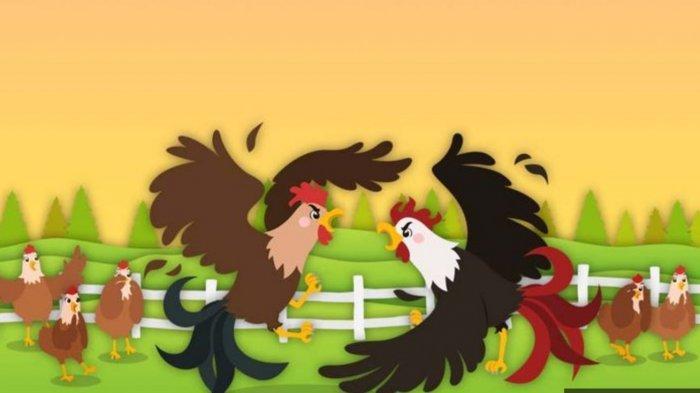 Fabel Ayam Jago Ekor Hitam dan Elang