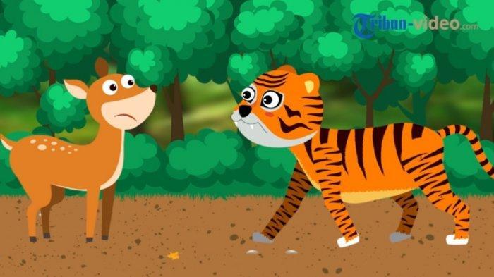 Fabel Kancil dan Harimau Mencari Sabuk Raja