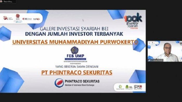 FEB Universitas Muhammadiyah Purwokerto Juara 2 dalam acara 100k Investor Syariah Indonesia