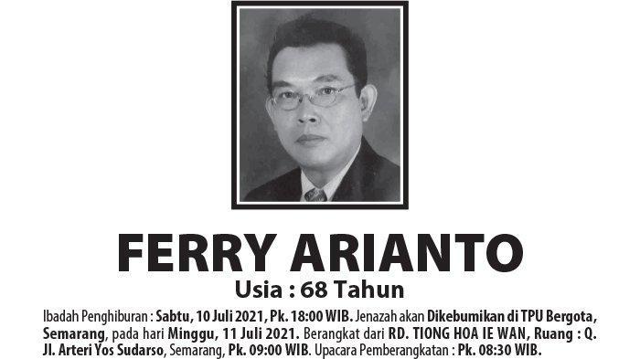 Berita Duka, Ferry Arianto Meninggal Dunia di Semarang