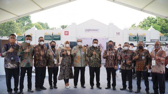 """Pelaksanaan acara Festival Joglosemar """"Artisan Of Java"""", yang diadakan di Taman Lumbini Candi Borobudur, Magelang, Jawa Tengah, pada Kamis, (20/5/2021)."""