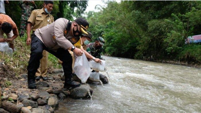 Forkompimda Temanggung Peringati Hari Air Sedunia dengan Tebar Ikan dan Tanam Pohon