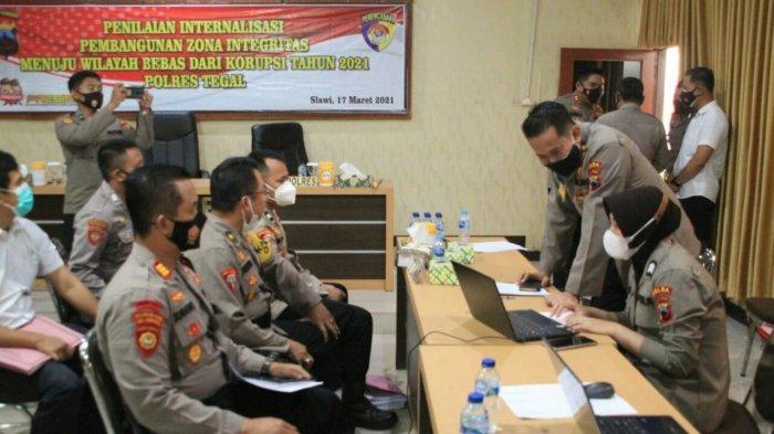 Tim Internal Polda Jateng Lakukan Penilaian Pembangunan Zona Integritas di Polres Tegal