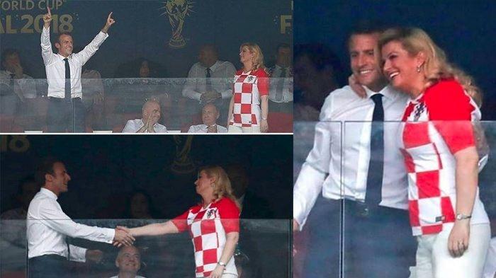 Viral Video KemesraanPresiden Kroasia dan Perancis, dari Gandengan sampai Ciuman