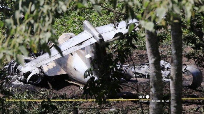 Kecelakaan Pesawat Milik Angkatan Udara Meksiko: Bodi Hancur, Semua Penumpang Tewas