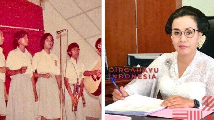 Misteri Foto Jadul Sri Mulyani Agustusan di SMAN 3 Semarang, Netizen Sibuk Tebak Sosok Menkeu