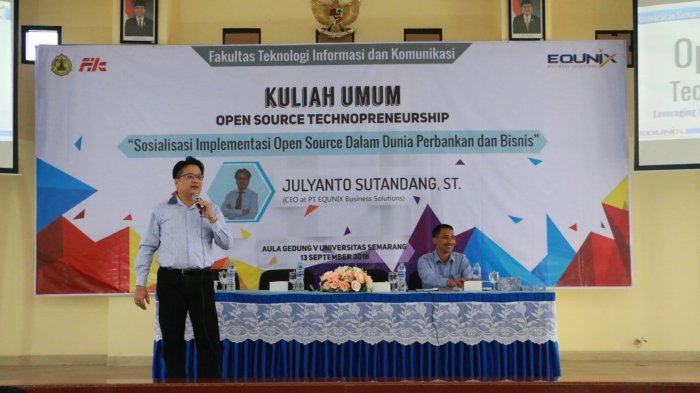 FTIK USM Gandeng Perusahaan Pelaku Bisnis Teknologi Berbasis Open Source