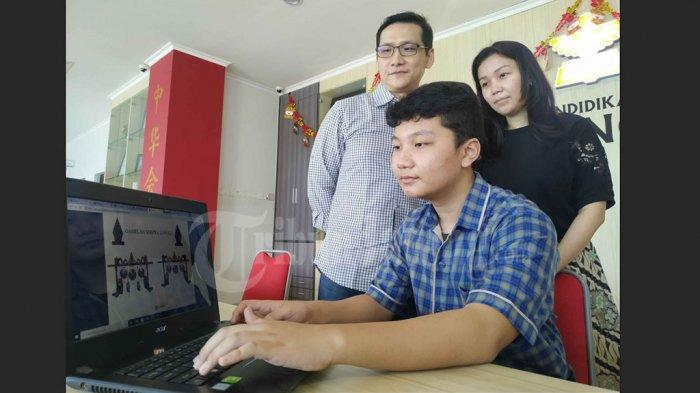 Josh Adrian Cahyadi Santoso Siswa SMP Karangturi Semarang Ciptakan Gamelan Soepra Virtual