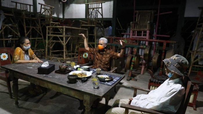 Malam-malam Ganjar Mampir Rumah Tanto Mendut, Bahas Pengembangan Candi Borobudur