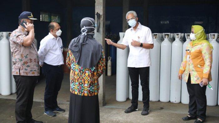 Jangan Panik! Ganjar Jamin Stok Tabung Oksigen RS di Jawa Tengah Aman