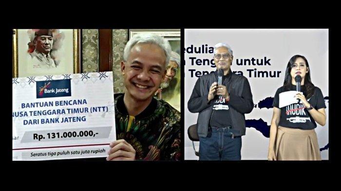 Ganjar Kirim Donasi Bencana NTT Rp 113 Juta: Hasil Konser Virtual Bank Jateng