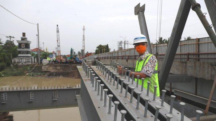 Jembatan Rembun Pekalongan Ditarget Ganjar Selesai Akhir Februari 2021