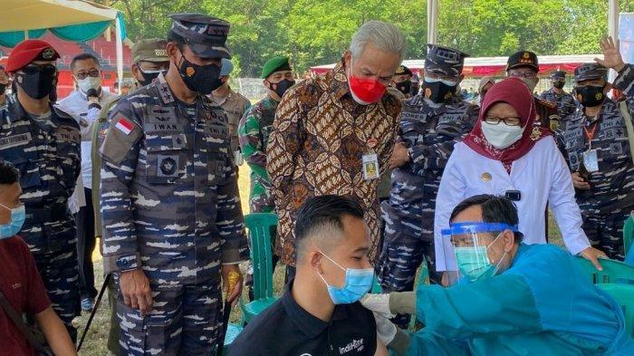Serbuan Vaksin Covid-19 TNI AL dengan 30 Ribu Dosis di Tegal, Disiapkan395 Vaksinator