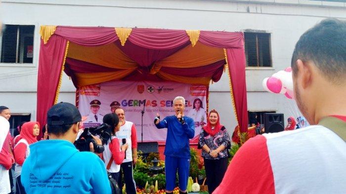 Launching Germas Kec Semarang Selatan, Ganjar Bicara Tentang Jateng Gayeng Nginceng Wong Meteng