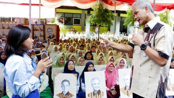 Lukis Wajah Ganjar Pranowo dalam 500 Karya, Siswa SMKN 2 Semarang Pecahkan Rekor Nasional