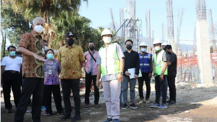 Gubernur Ganjar Pranowo Tinjau Pembangunan SMAN Tawangmangu, Ditarget Selesai Akhir Tahun