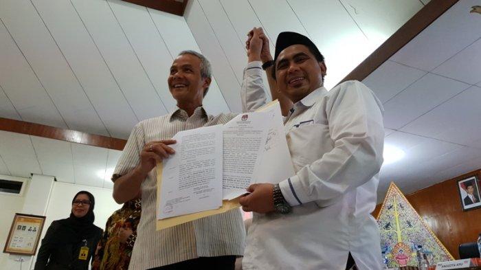 KPU Jateng Tetapkan Ganjar-Yasin Sebagai Pasangan Calon Terpilih di Pilgub Jateng 2018