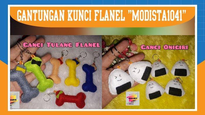 Gantungan Kunci Kain Flanel Modista1041, Unik dan Lucu