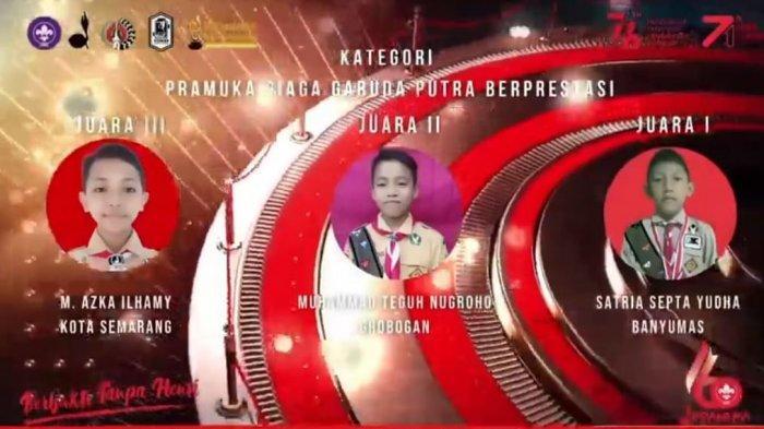 Tangkapan Layar YouTube Kwarda Jateng, Minggu (30/8/2021).