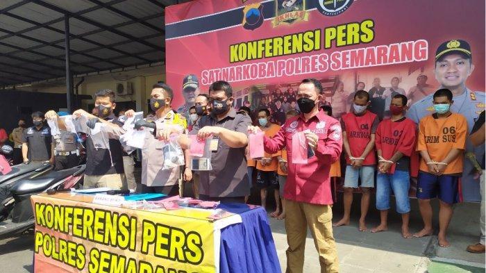 Operasi Antik Candi, Polres Semarang Ringkus 11 Tersangka Pengedar dan Pemakai Narkoba