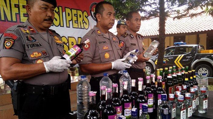 Polres Sragen Sita 1.010 Botol Miras Hasil Operasi Pekat Jelang Nataru