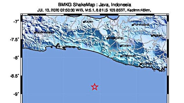 Gempa Selatan Jawa 13 Juli 2020 Bersebelahan Gempa 8.1 M 23 Juli 1943, Pernah Bikin 213 Orang Tewas