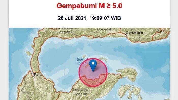 Info Gempa Malam Ini: Sulteng Diguncang Gempa Bumi Berkekuatan Magnitudo 6,5