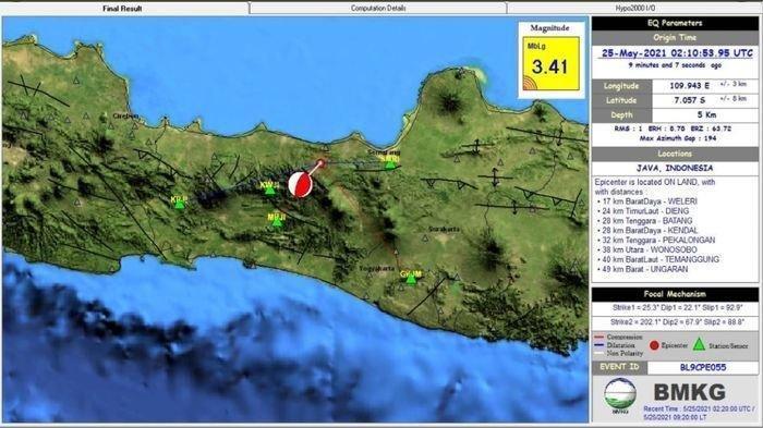 Info Gempa Hari Ini di Kendal M 3,2, BMKG Imbau Warga Tetap Tenang