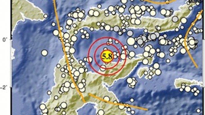 Info Gempa Hari Ini: Gempa Magnitudo 5,3 Guncang Tojo Una-una Sulawesi Tengah