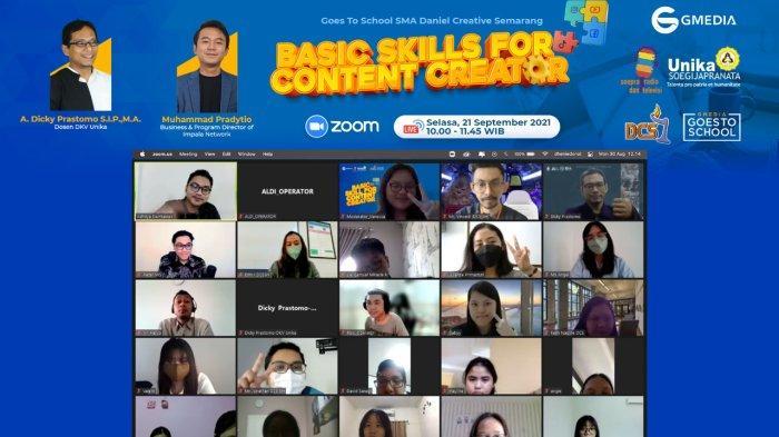 Basic Skill For Content Creator Soepra X Gmedia Goes To School, Sma Daniel Creative School