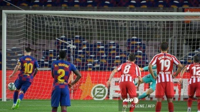 Hasil Liga Spanyol Tadi Malam Barcelona Vs Atletico Madrid, Messi Cetak Gol Ke-700
