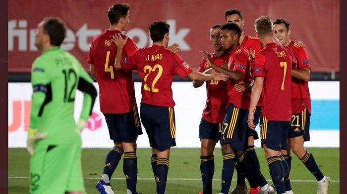Gol untuk timnas spanyol ke gawang ukraina pada laga uefa nations league