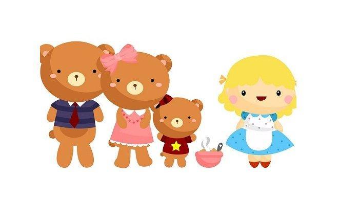 Dongeng Mancanegara Goldilocks dan 3 Beruang Cerita Pendek Inggris