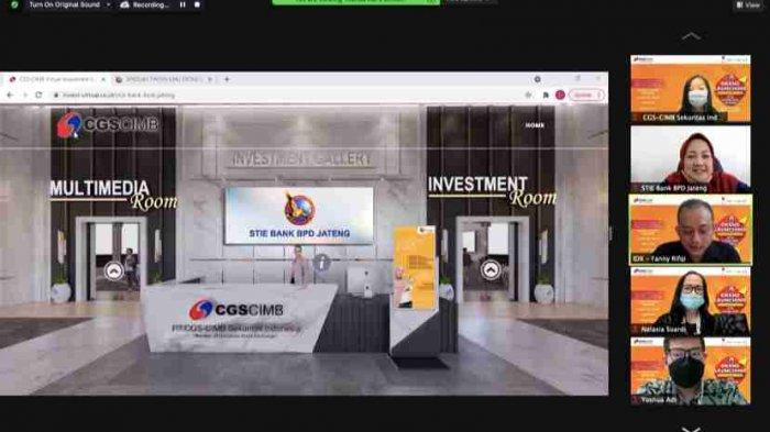 Grand Launching Virtual Investment Gallery STIE Bank BPD Jateng