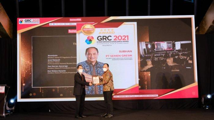 GRC & Performance Excellence Award 2021 memberikan penghargaan untuk Semen Gresik pada kategori The Best Corporate Secretary. (Kamis, 5 Agustus 2021).