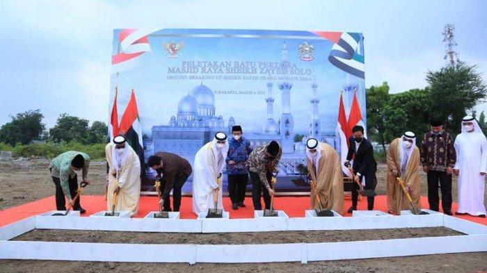 PembangunanMasjid Raya Sheikh Zayed Hadiah Pangeran UEA di Solo Segera Mulai, Target 15 Bulan