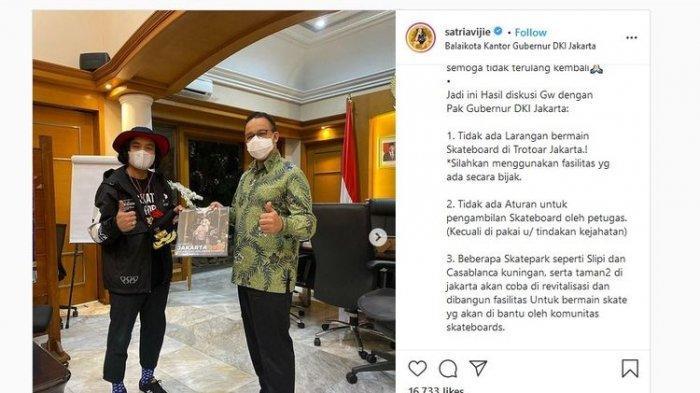Viral Satpol PP Tangkap Pemain Skateboard, Anies Ajak Bertemu Perwakilan dan Bicarakan Hal Ini