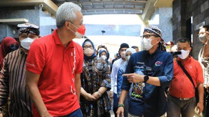 Ganjar Pranowo Dampingi Sandiaga Uno Kunjungi Desa Wisata Sangiran: Banyak Potensi Bisa Dikembangkan
