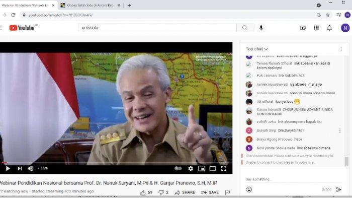 700 Peserta Ikuti Webinar Pendidikan Unissula Semarang, Ganjar: Ora Ketemu Tetep Sinau