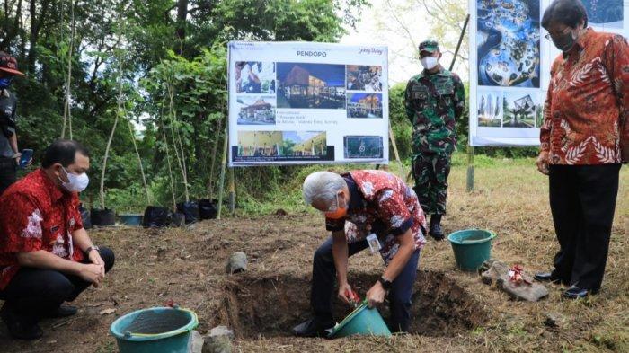 Peletakan Batu Pertama Jateng Valley, Ganjar Minta Ada Ikon Khusus yang Mudah Diingat