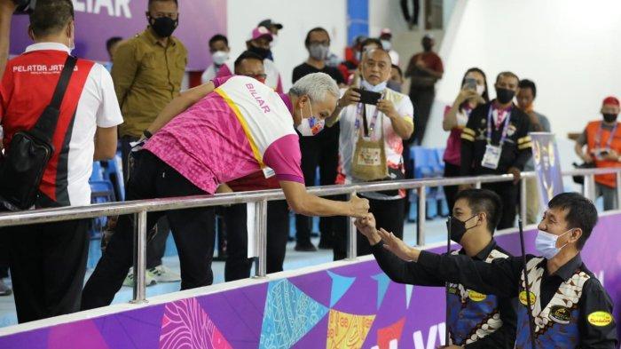 Firasat Ganjar Pranowo saat Pagi Terbukti, Biliar Persembahkan Medali Emas untuk Jateng