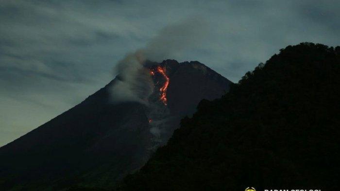 Gunung Merapi Muntahkan 3 Kali Awan Panas hingga 1,8 Kilometer Dalam 6 Jam Pagi Tadi