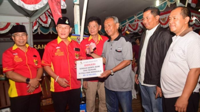 Gusdurian Pati Serahkan Donasi Masyarakat untuk Korban Gempa dan Tsunami Sulteng